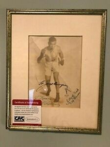 Jack Dempsey Autographed Photo Framed Boxing