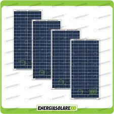 Set 4 Pannelli Solari Fotovoltaici 30W 12V multiuso Pmax 120W Baita Barca