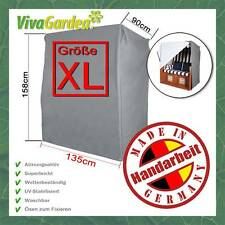 VivaGardea® PREMIUM STRANDKORB GANZJAHRESHAUBE SCHUTZHÜLLE HAUBE XL 135 CM GRAU