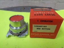 NOS Cutler Hammer 10250T102 red Push button 1 Operator New old stock oil tight