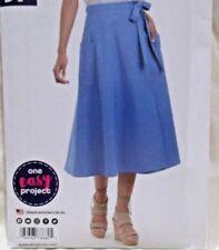 Simplicity Pattern A8682 Sizes 8-18 Sew Simple Misses Wrap Skirt 2018 Uncut