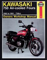 Haynes Motorcycle Repair Manual for Kawasaki KZ ZX 750 1980-85 574