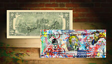 PHELPS 2016 RIO OLYMPICS USA SWIMMING Rency Banksy Art AUTHENTIC U.S. $2 Bill