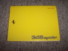 1994 Ferrari 348 Spider Original Technical User Owner's Owners Manual Book
