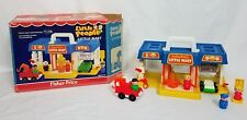 Vintage Little People Fisher Price Little Mini Mart Car Wash Set 2580 With Box