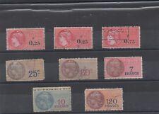 1935 à 1964 - Timbres fiscaux neufs avec charnière et oblitérés (11-016.17)