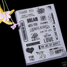"""""""Thank You"""" Clear Stamps for Paper Crafts Scrapbooking Cards Album DIY"""