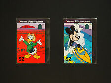 AUSTRALIA PHONECARDS  -  RARE !!!  1993 MICKEY MOUSE & DONALD DUCK FOLDER SET