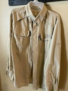 Cabela's Guidewear Men's Fishing Shirt Size Large Free Shipping