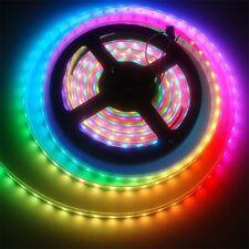 WS2811 5050 RGB LED Strip Light Waterproof Addressable Tube DC12V Black Shell QT