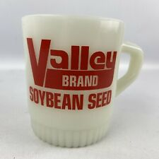 Vintage Fire King Valley Brand Soybean Seed Mug White Anchor Hocking Promotional