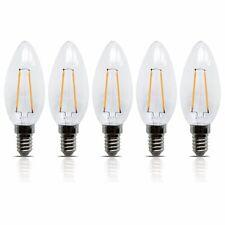5 Stück LED Filament Leuchte Kerze E14 2W 200 Lumen  Lampe Glühfaden