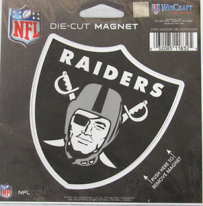 NFL Las Vegas Raiders 4 inch Auto Magnet Die-Cut by WinCraft