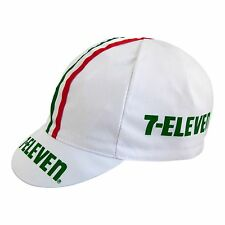 7-Eleven 7-11 Cycling Cap Retro hat with Hampsten Phinney Heiden Made in Italy