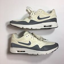 Nike Air Max 1 Ultra Moire 704995-101 White Gray Women's Athletic Shoes Size 9
