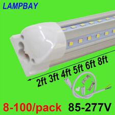 8-100/pack LED Tube Lights V shaped Fluorescent Lamp Super Bright Bulb 270 angle