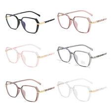 Women Men Anti-blue Light Clear Lens Metal Frame Irregular Optical Glasses Frame