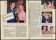1956 TV ARTICLE~MARY COSTA~WILLIAM LUNDIGAN~RONALD REAGAN~OTTO KRUGER