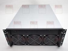 """6 GPU Mining Rig Miner Gehäuse Case 19"""" 4HE 4U+ Lüfter Ethereum Monero GTX1080"""