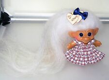 americana hearts! vtg uneeda troll doll. new eyes & mohair.