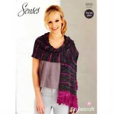 Stylecraft Knitting Pattern 8858 Senses Lace Weight Scarf Shawl Stole EASY