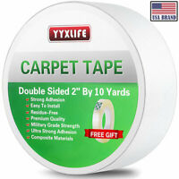 YYXLIFE Double Sided Carpet Tape for Area Rugs Carpet Adhesive Rug Gripper 10YD