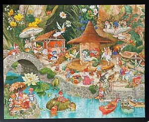Vintage  AT THE WEE FOLKS' FAIR - Springbok Puzzle Hallmark 1000 Pcs Complete