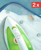 2 x Bügelschutztücher Bügelhilfe Bügelauflage Bügeltuch 60x40 Bügelschutztuch
