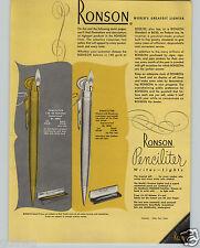 1949 PAPER AD Ronson Penciliter Pocket Gem