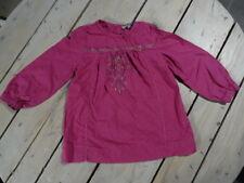 Tunique manches longues violet brodé point de croix VINYL FRAISE Taille 4 ans