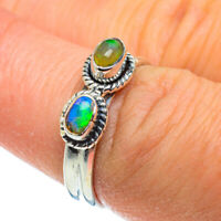 Ethiopian Opal 925 Sterling Silver Ring Size 7.25 Ana Co Jewelry R44345F