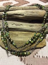 Silpada Green Pearl Aventurine Sterling Silver and Jade Bead Necklace N1683
