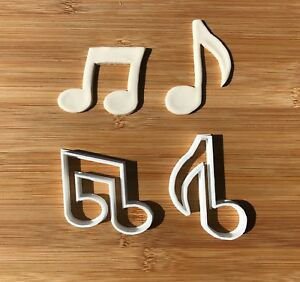 2pcs Plastic Music Note NEW Biscuit Cookie Cutter Fondant Cake Decorating Mold