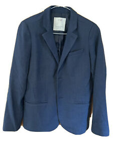 Zara Boys Blue Smart Jacket / Blazer, Age 11/12, 152, Excellent
