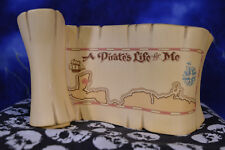 """WDCC Pirates of the Caribbean Title Scroll """"A Pirate's Life for Me!"""" LE 700"""
