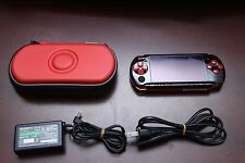 PlayStation Portable PSP-3000 Black/Red Console Japan system US Seller