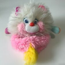 "MATTEL Popples Puffling White Pink Plush Fluffy Puff Toy 6"" Toy 1986 Reversible"