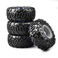 4X Rubber Tire&Wheel For HSP RC 1:10 Bigfoot Monster Truck Car Climbing Crawler