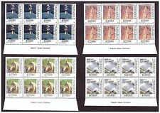 ZIMBABWE 2006 WATER CONSERVATION IMPRINT BLOCKS SG 1188  TO 1191 CAT $ 100