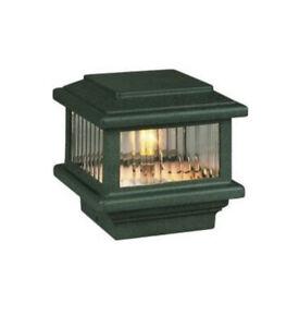 "Titan Flat Top Deck Light, Verde Green, Fits 3 1/2"" Post, 3 5/8"""