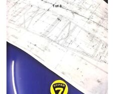 Lotus 7 s2 Blue Print Wall Chart for Office or Garage. Caterham Westfield 7
