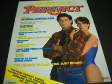 John Travolta and Jamie Lee Curtis are Perfect 1985 Promo Poster Ad mint cond