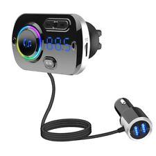 Bluetooth 5.0 Carkit Handsfree FM Transmitter AUX Audio Car Player A2DP Wireless