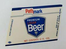 VINTAGE Hofbrau Brewing PATHMARK PREMIUM LAGER BEER label PA 12oz