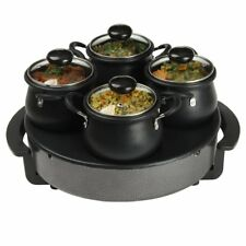 Hob Plate Gourmet Electric Warmer Buffet Indian Curry Pot Deep Saucepan Cooking