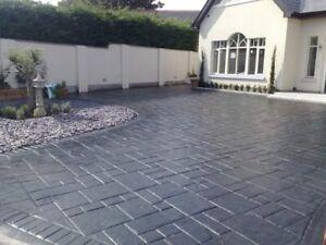 Imprinted concrete colour driveway sealer paint pattern imprint 20 litre. Grey/