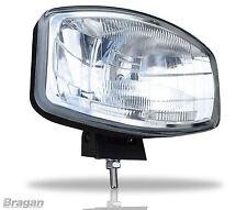 """24v 9.5"""" Jumbo Oval Black ABS Spot Lamp + LED Scania Volvo DAF MAN Truck"""