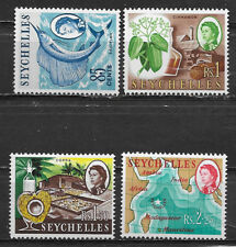 SEYCHELLES , ELIZABETH II , 1962/69 , SET OF 4 STAMPS   PERF , MNH