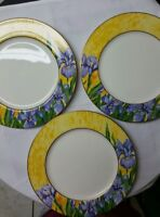 "6 Beautiful Mikasa Ivory Bone China AD003 Dinner Plate 10 1/2"" made in Japan"