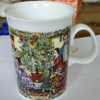 Vintage Dunoon Ceramics England Christmas Tree Santa Tradition Coffee Mug Cup